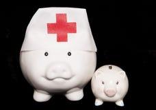花金钱在下一代的医疗保健上 免版税库存照片