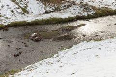 花雪时间冬天 免版税库存照片