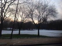 花雪时间冬天 库存图片