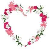 花饰心脏传染媒介框架 向量例证