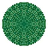 花饰,仿造绿色 印地安动机 免版税库存图片