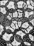 花,在圈子的叶子 也corel凹道例证向量 乱画图画 冥想的锻炼 彩图反重音为 库存图片