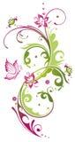 花,夏天,桃红色,绿色 免版税库存图片