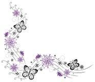 花,蝴蝶 免版税库存图片