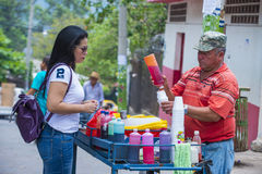 花&棕榈节日在Panchimalco,萨尔瓦多 免版税库存照片