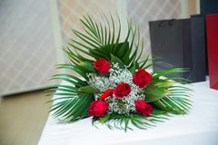 花 英国兰开斯特家族族徽花束 葡萄酒华伦泰花卉背景 人为英国兰开斯特家族族徽花束,被隔绝,拷贝的空间在t 库存照片