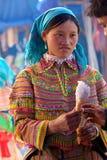花hmong少数民族人越南 库存图片