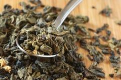 芳香化的绿茶 库存图片