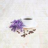 芳香咖啡馆咖啡杯设计要素例证向量 免版税库存图片