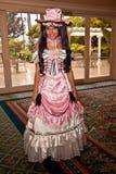 芳香树脂服装女孩粉红色 库存照片