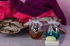 芳香疗法,温泉,蒸汽浴,华伦泰` s天 图库摄影