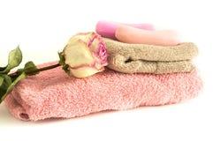 芳香肥皂温泉处理 库存照片