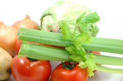 芹菜收集蔬菜 库存照片