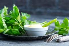 芹菜用调味汁 图库摄影