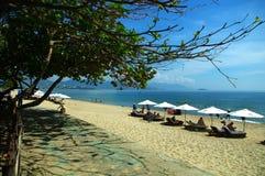 芽庄市海滩,庆和省,越南 图库摄影