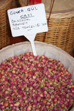 芽烘干了玫瑰色标签 库存图片