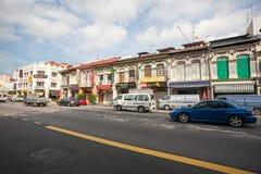 芽笼区在新加坡 免版税库存照片