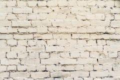苍白奶油色颜色老砖表面  库存照片