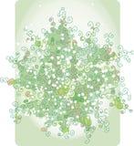 苍白抽象花束的绿色 库存照片