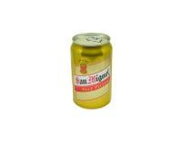 苍白的圣米格尔火山pilsen啤酒 免版税图库摄影