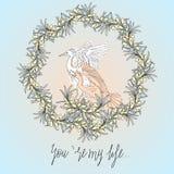 苍鹭鸟和橄榄色的天气 免版税图库摄影