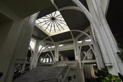 苏丹伊斯梅尔机场清真寺- Senai机场,马来西亚 库存照片