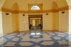 苏丹伊斯梅尔清真寺在Muar,柔佛州,马来西亚 免版税库存照片