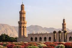 苏丹卡布斯清真寺-马斯喀特,阿曼 库存照片
