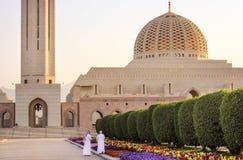 苏丹卡布斯清真寺-马斯喀特,阿曼 库存图片