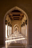 苏丹卡布斯盛大清真寺在马斯喀特,阿曼 库存照片