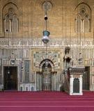 苏丹哈桑清真寺,开罗,埃及内部  库存照片