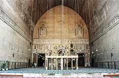 苏丹哈桑清真寺 免版税库存照片