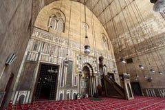 苏丹哈桑清真寺  免版税图库摄影