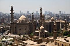 苏丹哈桑清真寺Madrassa和AlRifai清真寺在开罗 免版税库存照片