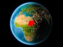 苏丹在晚上 免版税库存图片