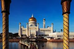 苏丹奥马尔阿里Saifuddien清真寺在汶莱 库存图片