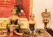 苏丹家庭的印度尼西亚雕塑 库存照片