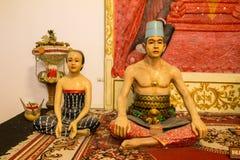 苏丹家庭的印度尼西亚雕塑 免版税库存图片