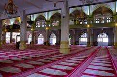 苏丹清真寺,新加坡内部祷告庭院  库存图片