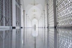 苏丹萨拉赫丁省阿卜杜勒・阿齐兹清真寺在莎阿南,马来西亚 免版税图库摄影