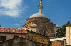 苏丹近Murad清真寺对老市场斯科普里 免版税库存图片