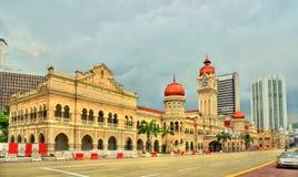 苏丹阿卜杜勒萨玛德大厦在吉隆坡 修造,在1897年它现在安置信息部办公室 马来西亚 免版税库存图片