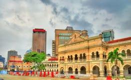 苏丹阿卜杜勒萨玛德大厦在吉隆坡 修造,在1897年它现在安置信息部办公室 马来西亚 图库摄影
