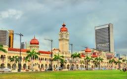 苏丹阿卜杜勒萨玛德大厦在吉隆坡 修造,在1897年它现在安置信息部办公室 马来西亚 库存图片