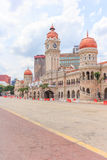 苏丹阿卜杜勒萨玛德大厦在独立报广场前面位于Jalan王侯,吉隆坡,马来西亚 免版税库存照片