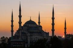 苏丹阿哈迈德清真寺在伊斯坦布尔 免版税图库摄影