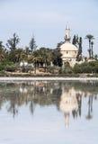 苏丹阿哈迈德清真寺在拉纳卡,塞浦路斯 免版税图库摄影