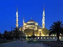 苏丹阿哈迈德清真寺在清早,伊斯坦布尔,土耳其 免版税库存照片