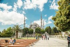苏丹阿哈迈德清真寺或苏丹Ahmet清真寺 免版税库存图片