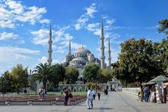 苏丹阿哈迈德清真寺看法蓝色清真寺 库存照片
